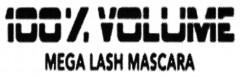 100% VOLUME MEGA LASH MASCARA