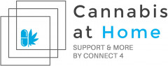 Cannabis at Home SUPPORT & MORE BY CONNECT 4 Logo (DPMA, 2019)